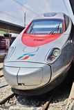 Trenitalia high speed train in Italy. VENICE, ITALY -29 APRIL 2015- Trenitalia high speed trains (Italo, Frecciarossa and Frecciabianca) and regional trains stop Royalty Free Stock Images