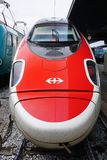 Trenitalia high speed trains (Italo, Frecciarossa and Frecciabianca) at the Venice St. Lucia railway stat Stock Images