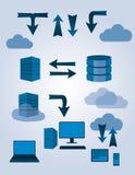 Trennen Sie Datenbanksymbole Stockfotografie