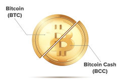 Trennung Cryptocurrency Bitcoin Stockfotos