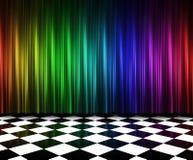 Trennvorhänge in den multi Farben Lizenzfreie Stockfotografie