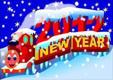 Treno 2012 di nuovo anno Fotografia Stock