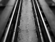 in treno fotografia stock