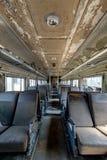 Treno abbandonato automobilistico del passeggero d'annata fotografia stock libera da diritti