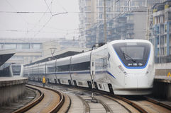 Treno ad alta velocità cinese del crh Fotografia Stock