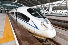 Treno ad alta velocità cinese a Gaotie Canton del sud Fotografia Stock Libera da Diritti