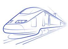 Treno ad alta velocità del passeggero Fotografia Stock Libera da Diritti