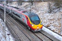 Treno ad alta velocità del Virgin Immagini Stock Libere da Diritti