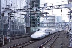 Treno ad alta velocità di Shinkansen Immagine Stock