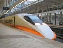 Treno ad alta velocità moderno Immagine Stock
