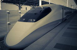 Treno ad alta velocità moderno Fotografia Stock Libera da Diritti