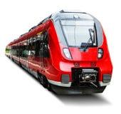 Treno ad alta velocità moderno isolato su bianco Fotografia Stock Libera da Diritti