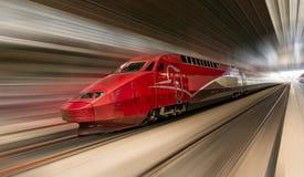 Treno ad alta velocità nel moto Fotografia Stock Libera da Diritti