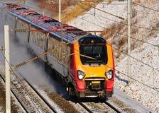 Treno ad alta velocità nella neve Fotografia Stock Libera da Diritti