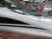 Treno ad alta velocità nella stazione ferroviaria in Cina Fotografia Stock Libera da Diritti