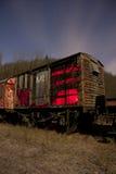 Treno alla notte Fotografia Stock Libera da Diritti