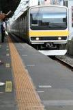 Treno alla stazione Immagini Stock