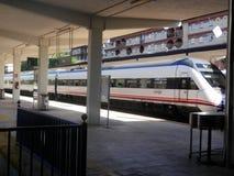 Treno alla stazione di Jaen Immagini Stock