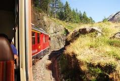 Treno alpino Fotografie Stock
