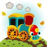Treno animato Fotografie Stock