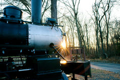Treno antico nell'iarda ferroviaria Fotografia Stock Libera da Diritti
