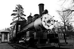 Treno antico nell'iarda ferroviaria Fotografie Stock