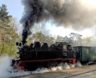 Treno antiquato del vapore Immagine Stock
