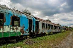 Treno arrugginito no4 Fotografia Stock Libera da Diritti