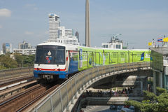 Treno a Bangkok Fotografia Stock