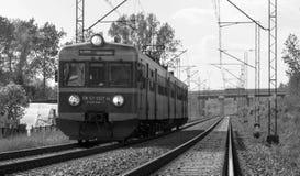 Treno in bianco e nero Immagini Stock