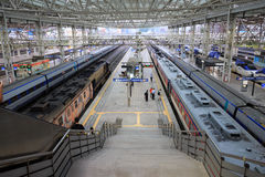 Treno a Busan dalla città di Seoul Fotografia Stock Libera da Diritti