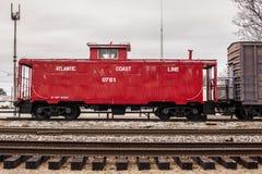 Treno, caboose Fotografie Stock Libere da Diritti