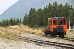 Treno Carcross - il Yukon - Canada immagini stock