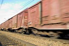 Treno commovente Fotografie Stock
