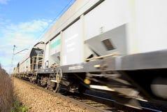 Treno commovente Immagini Stock