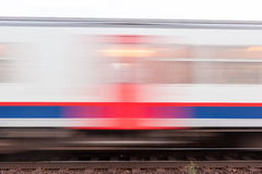 Treno commovente Fotografia Stock