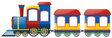 Treno con due carrelli ferroviari Immagini Stock Libere da Diritti