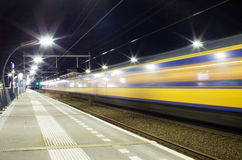 Treno con moto Fotografia Stock Libera da Diritti