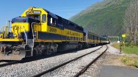 Treno d'Alasca Fotografia Stock Libera da Diritti