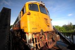Treno d'annata in Tailandia Fotografie Stock