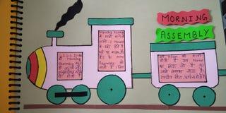treno 3d per scopo di istruzione fotografie stock libere da diritti