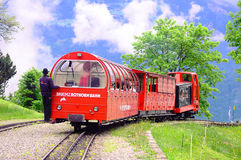 Treno da Rothorn a Brienz. Fotografie Stock
