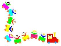 Treno dei bambini Immagini Stock Libere da Diritti