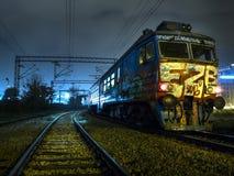 Treno dei graffiti a Belgrado Fotografie Stock Libere da Diritti
