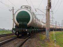 Treno dei serbatoi di combustibile Immagine Stock