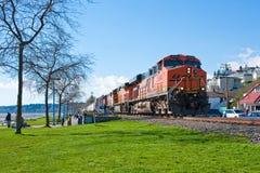 Treno del carbone di BNSF Fotografia Stock