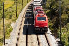 Treno del carico Fotografie Stock