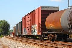 Treno del carico Fotografia Stock