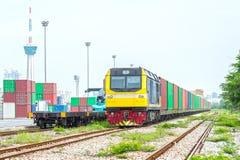 Treno del container Immagini Stock Libere da Diritti