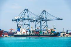 Treno del container Fotografia Stock